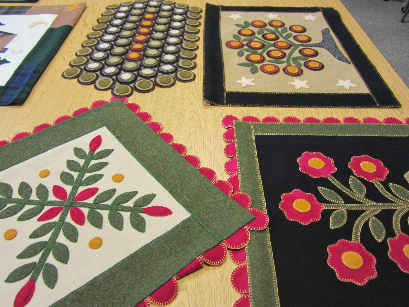 rugs and for the penny designs this requires a lot of hand sewing using the blanket stitch with embroidery floss lorri uses old designs and creates