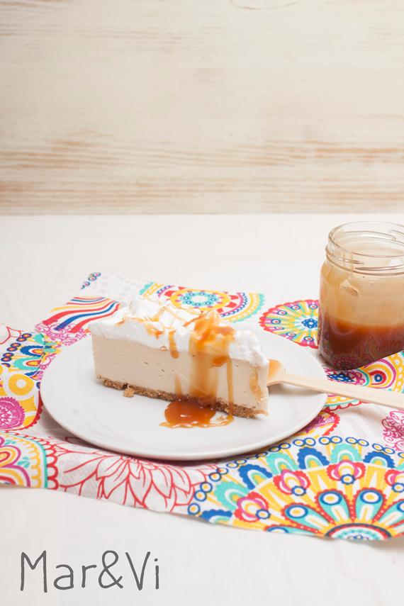 tarta de queso fácil al caramelo salado