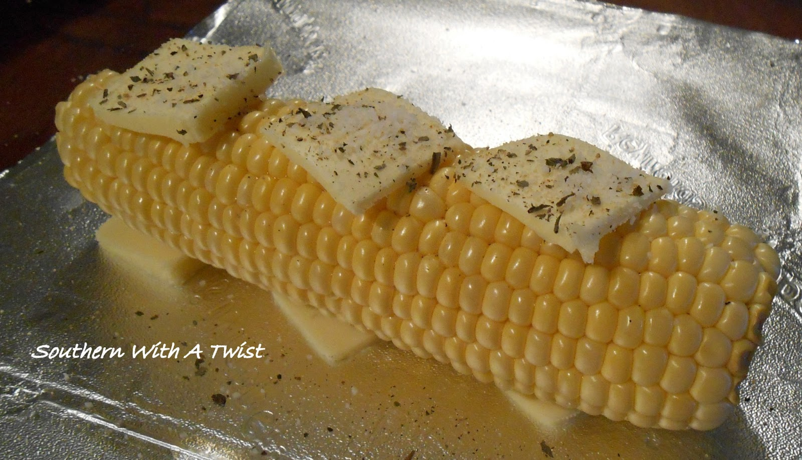 Southern With A Twist: Oven Roasted Corn on the Cob