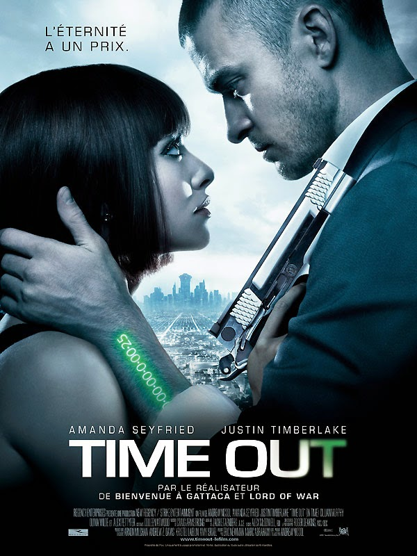 Affiche de Time Out, d'Andrew Niccol, avec Justin Timberlake et Amanda Seyfried (2011)