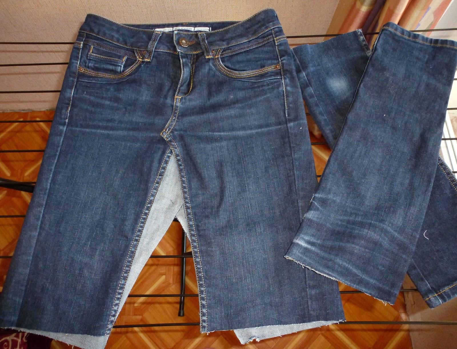 Какие брюки сшить из джинсовой ткани 35