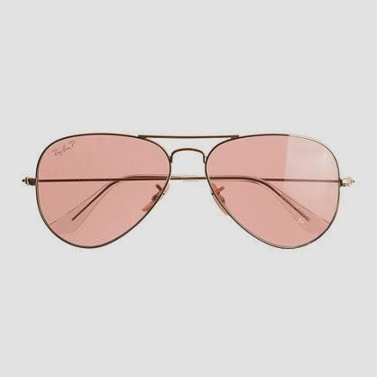 Ray-Ban pink aviators