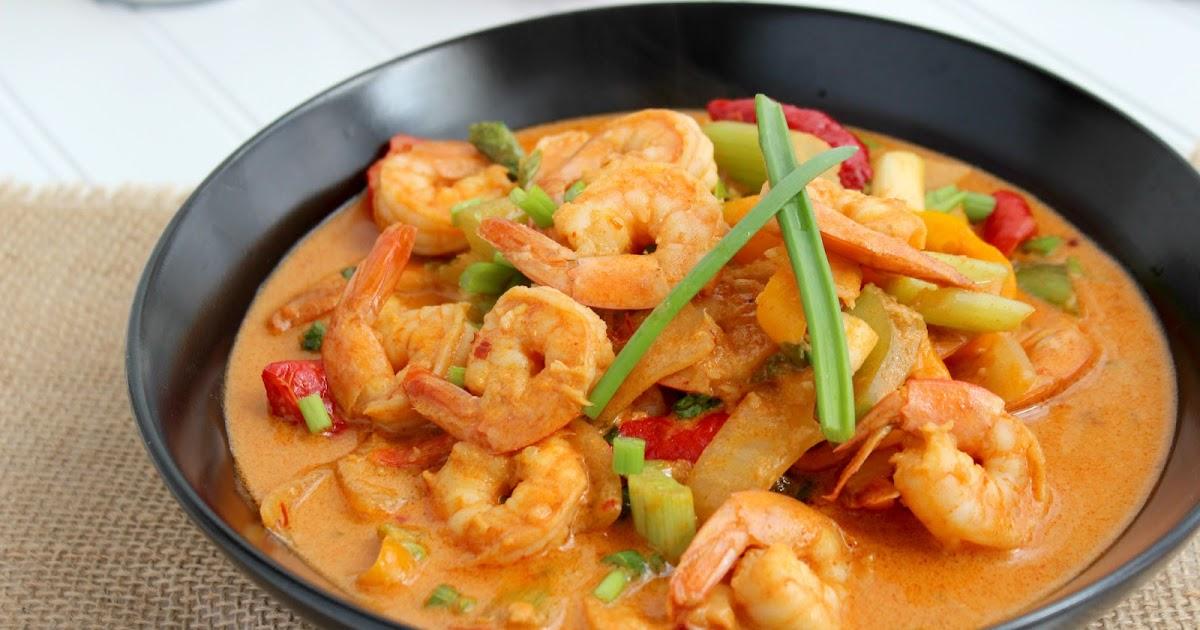 kitchen simmer: thai kitchen: red curry shrimp