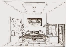 Free download sketsa interior design