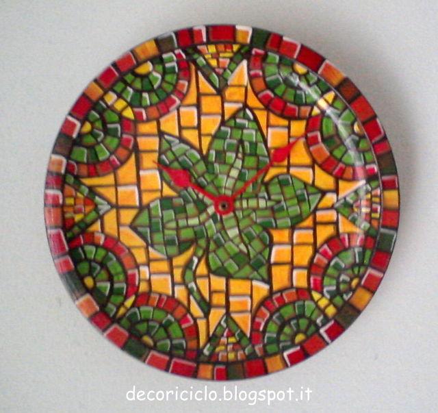 Decoriciclo decorazione a finto mosaico veloce for Mosaico fai da te