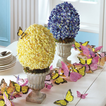 Easter Decorating Projects Spheres And Topiaries