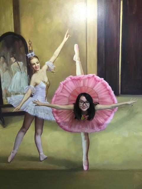 Trick eye museum singapore ballerina pose
