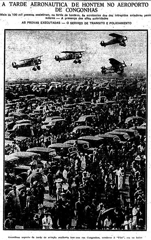 Evento de voo acrobático ocorrido no Aeroporto de Congonhas em 1938.