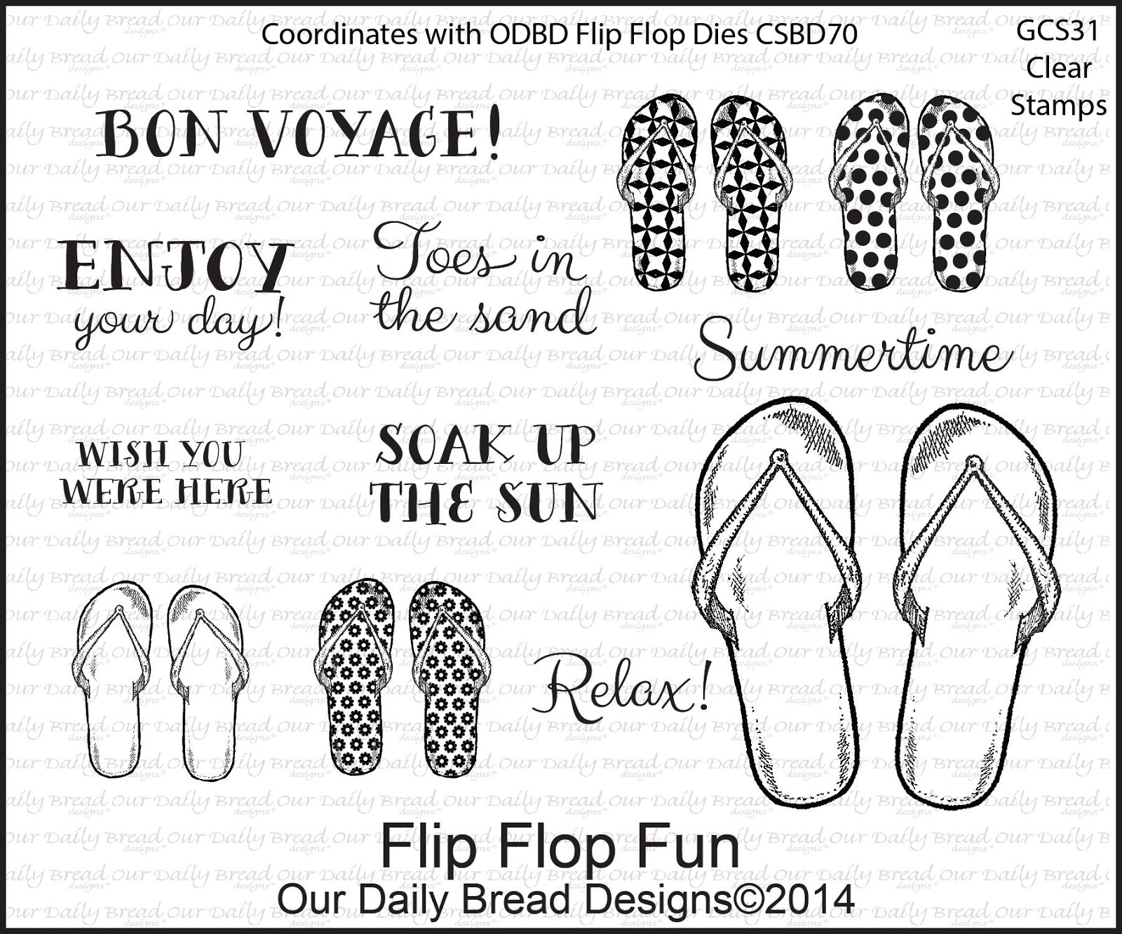 Stamps - Our Daily Bread Designs Flip Flop Fun