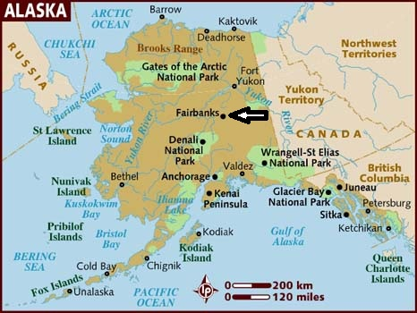 Flat Stanley Visits Alaska: I'm in North Pole, Alaska!