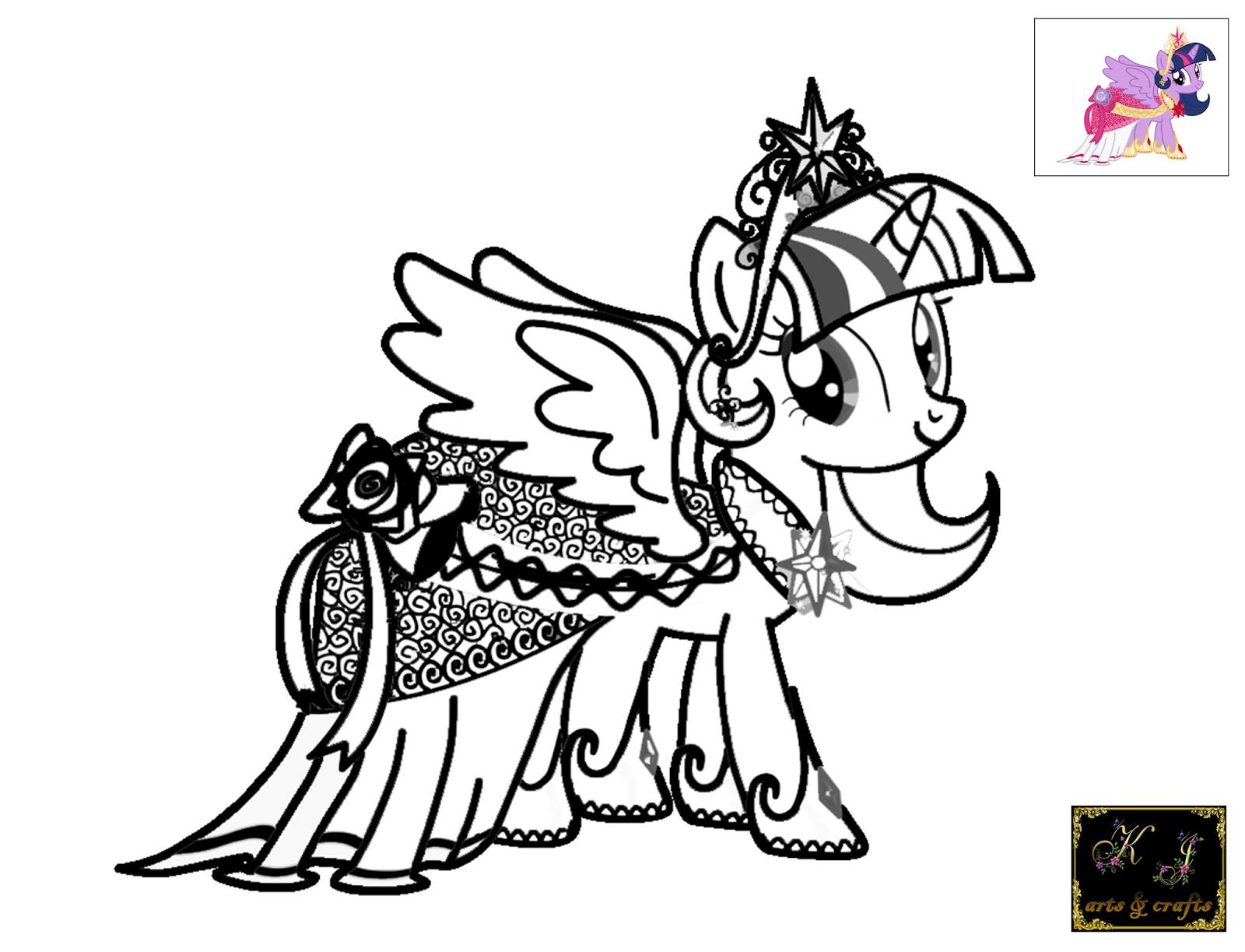 princess twilight sparkle 1 - Twilight Coloring Pages