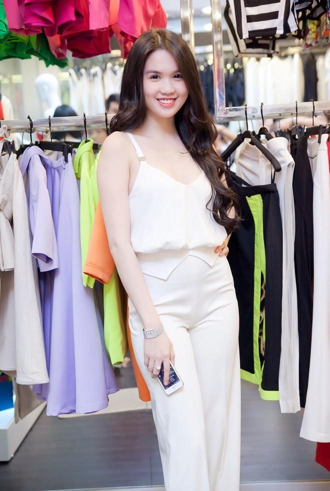 Ngoc Trinh vs Angela Phuong Trinh with white