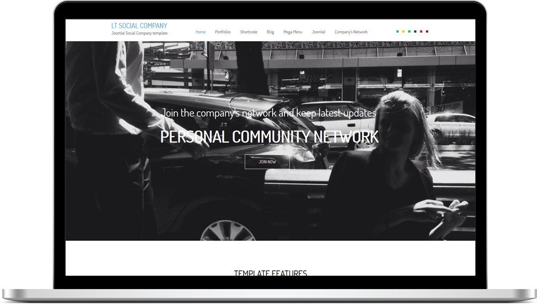 LT Social Company Onepage - Free Joomla! Template
