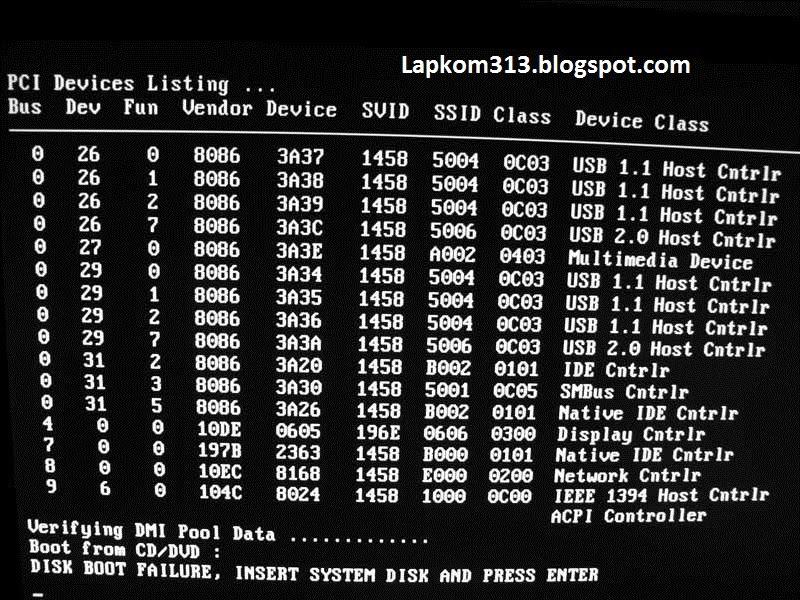 Cara Memperbaiki Komputer/Laptop Tidak Bisa Booting