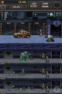 Screenshots of the Zombie hive for Android tablet, phone.