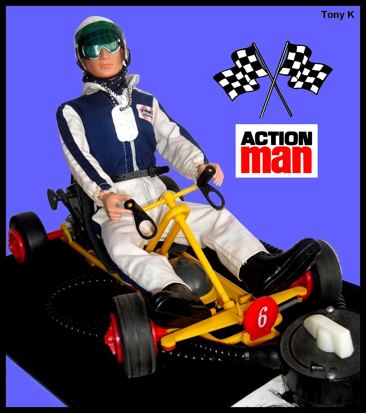 An Example Of The Action Man Go Kart Can Be Seen Below, Featuring A GI Joe  Racing Car Driver With His Own Unique Outfit.