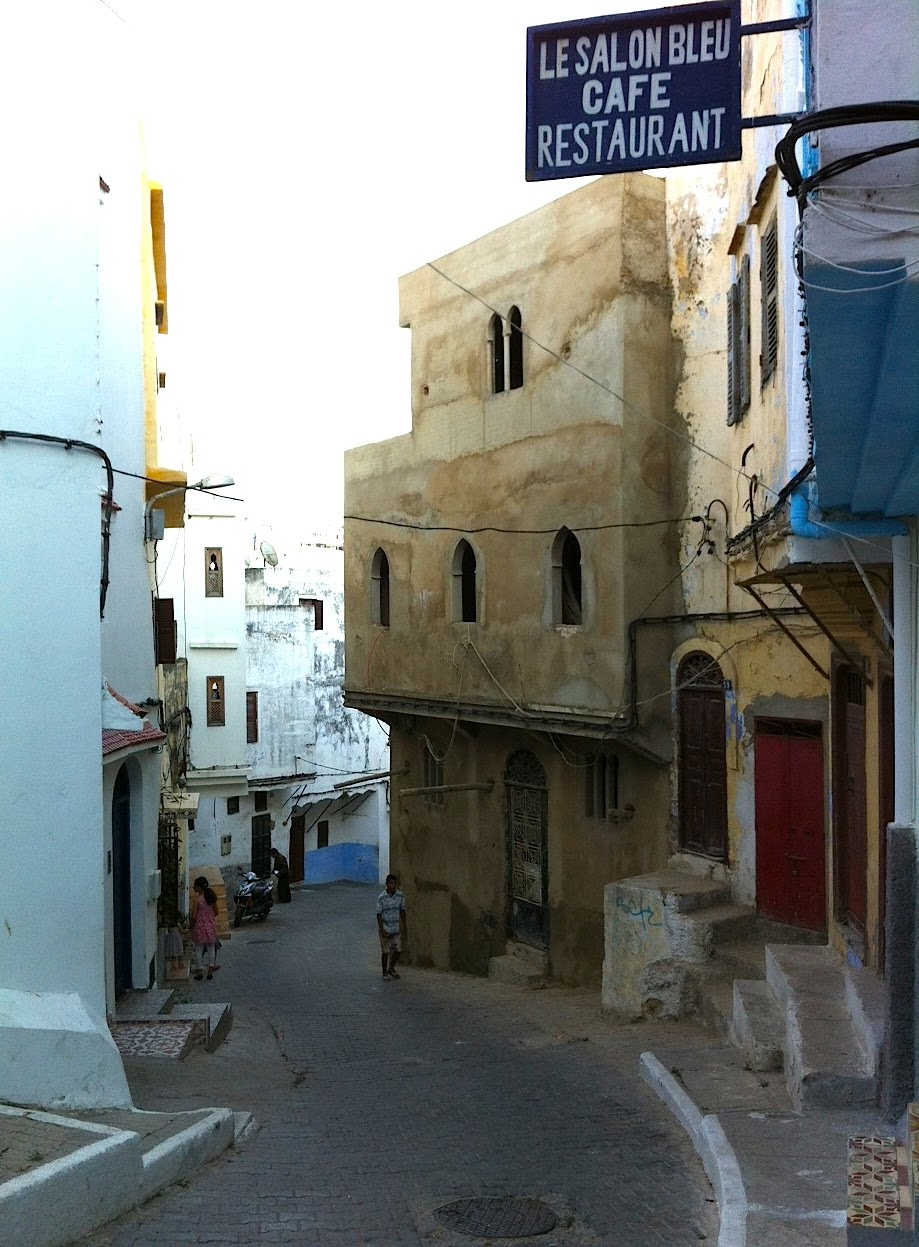 A Passage to Tangier: Eating in Tangier: Le Salon Bleu