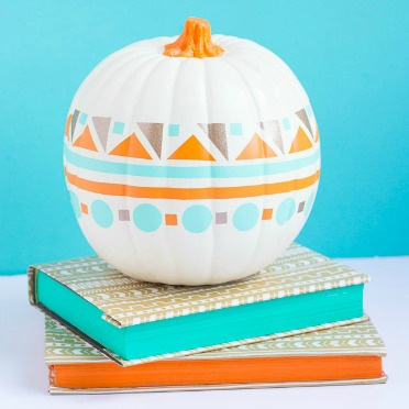Decorate a pumpkin with vinyl scraps!