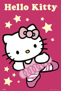 Gambar Hello Kitty Menari Balet Animasi Bergerak Balerina Terbaru