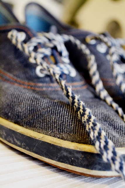 vintage, denim, indigo, blue, retro, sneakers, tennis shoes, stripes, seattle, fashion