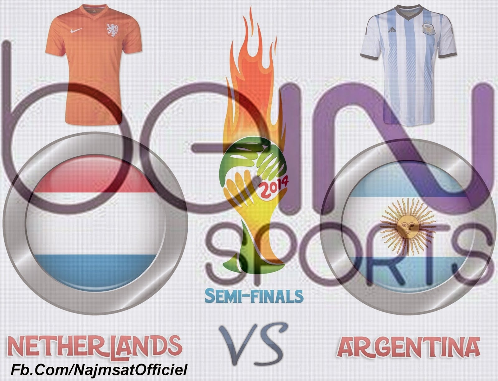 Netherlands Vs Argentina On beIN S 25.5°E & beIN S Feed 3.1°E & beIN ...