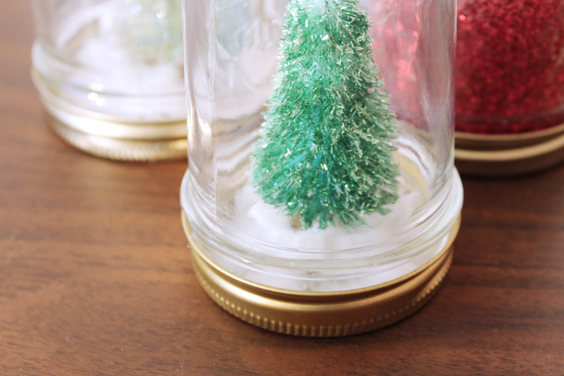 crafting snow globes.