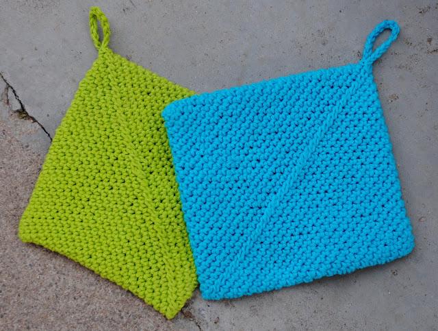 crochet pot holders / hot pads