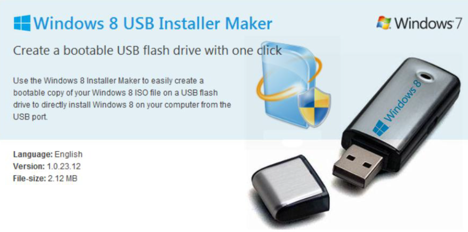 Download Bootable Windows 8 USB Installer Maker