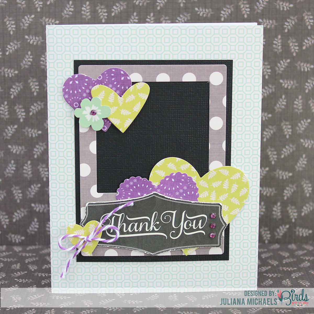 Thank You Card by Juliana Michaels for 3 Birds Studio