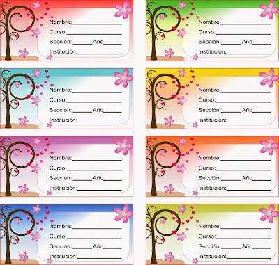 etiquetas femeninas para señoritas y jovencitas o mijeres