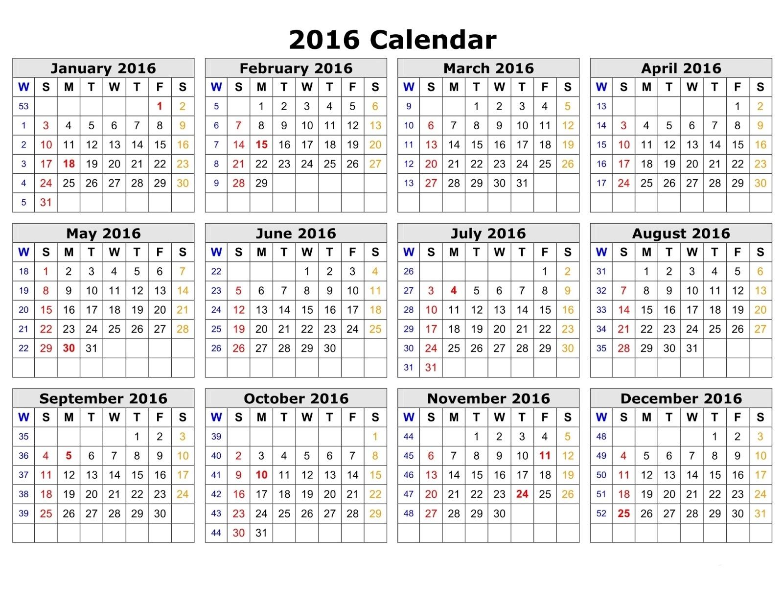 Calendar In Weeks : Calendar week numbers printable search results