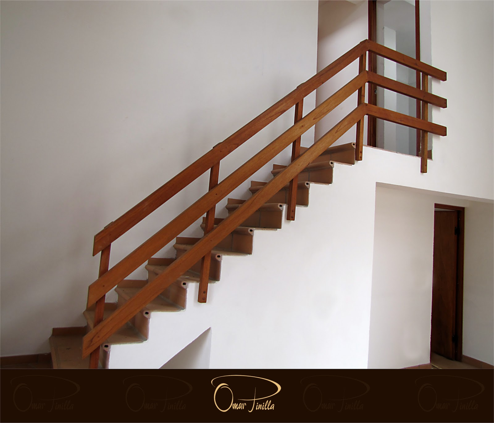 Muebles omar pinilla escaleras barandas - Barandas de madera para escaleras ...