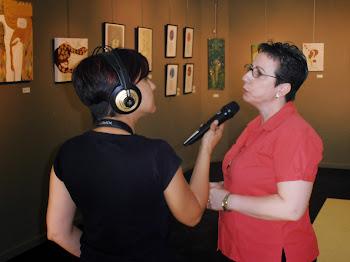 """Entrevista Guiada de Radio Rubi  por la exposición """"Nuevas Sensaciones"""""""