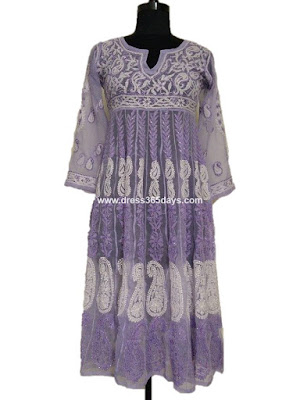 Purple Chiffon Anarkali