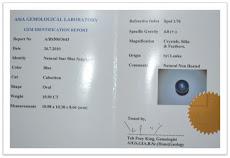 Cincin Nilam Biru Ceylon Star / Natural Star Blue Sapphire (SOLD)