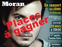 Gagnez des places: Moran en concert
