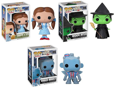 The Wizard of Oz Pop! Movies Vinyl Figures by Funko - Dorothy, the Wicked Witch and a Winged Monkey