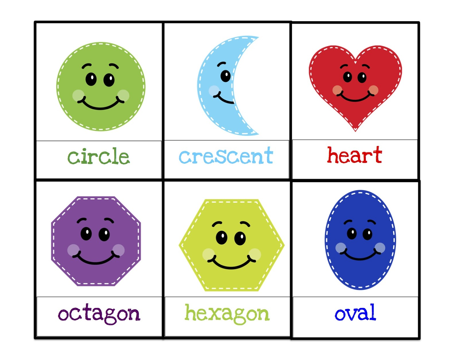 It's just an image of Monster Printable Shapes for Preschoolers
