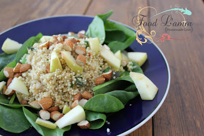 Spinach Quinoa Salad with {Homemade} Balsamic Vinaigrette