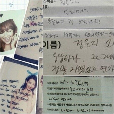 Tulisan Tangan Artis Korea Terjelek