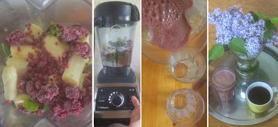 Zubereitung Grün-lila Smoothie mit Spargel