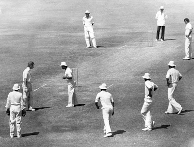 UNFORGETTABLE GESTURE: England's Bob Taylor is recalled by Indian skipper G.R. Viswanath in the Golden Jubilee Test at Bombay in 1980