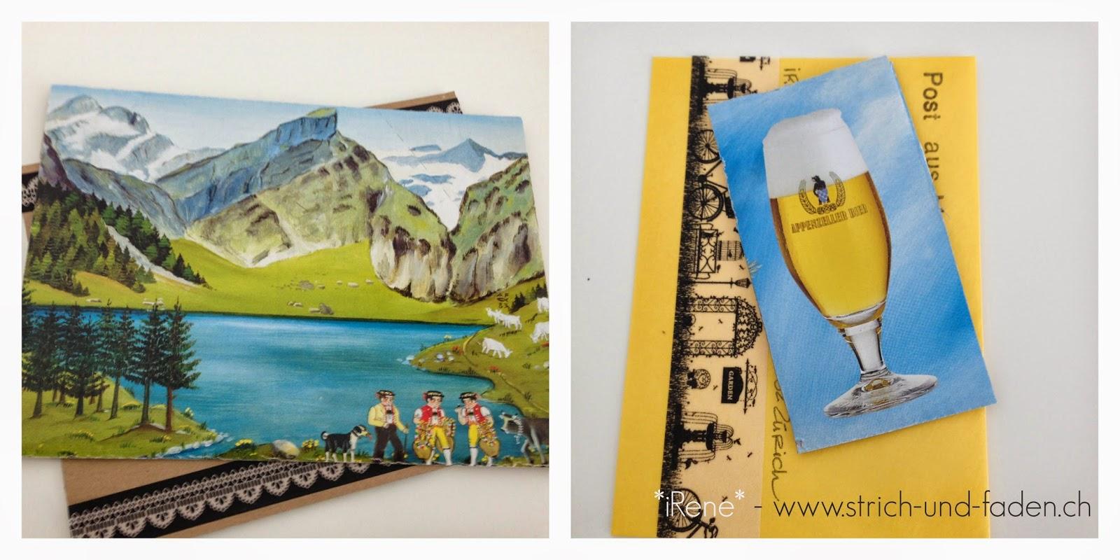 mit Strich und Faden | Quöllfrisch Karton ist auch eine Postkarte Upcycling