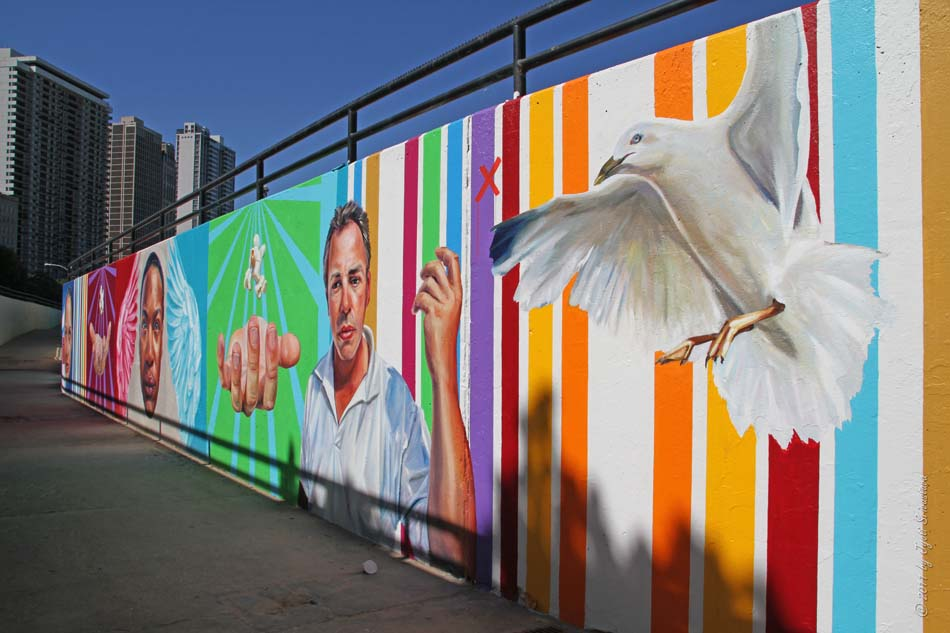 Public art in chicago oak street beach murals by chicago for Chicago mural artist