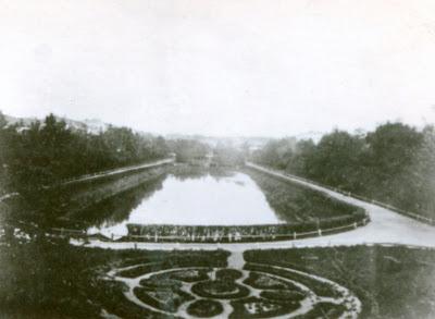 Казанский парк Черное озеро, фотография конца XIX века