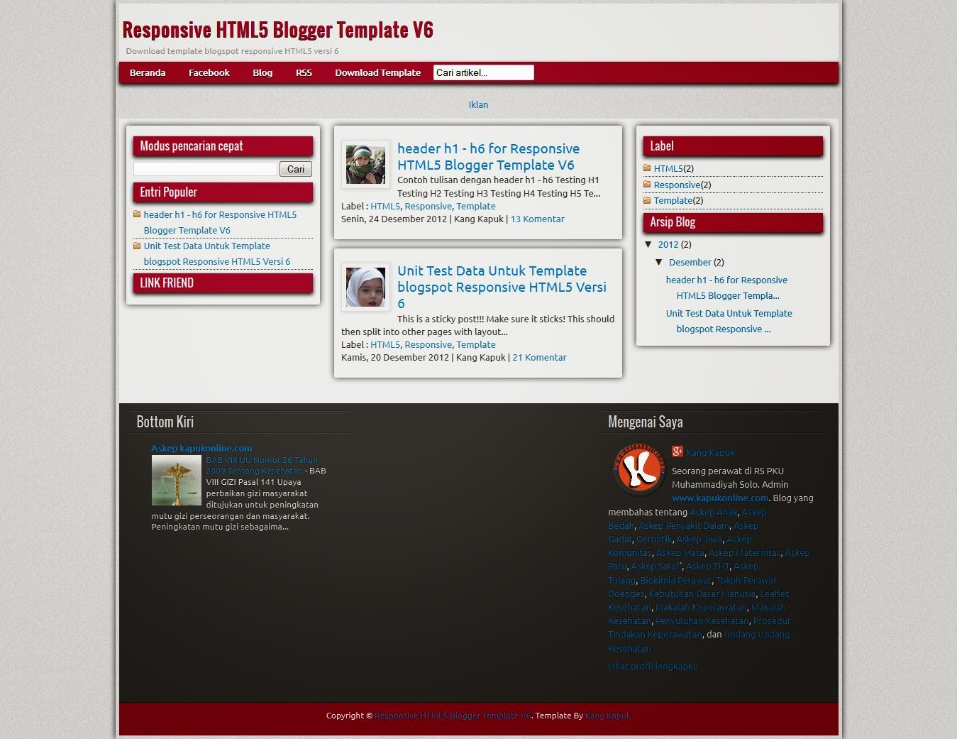 Top best Responsive Blogger templates Blogspot xml templates: HTML5 ...