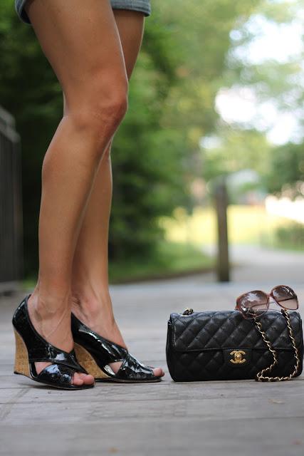 BCBG Shoes, Chanel Purse, Blinde Sunglasses