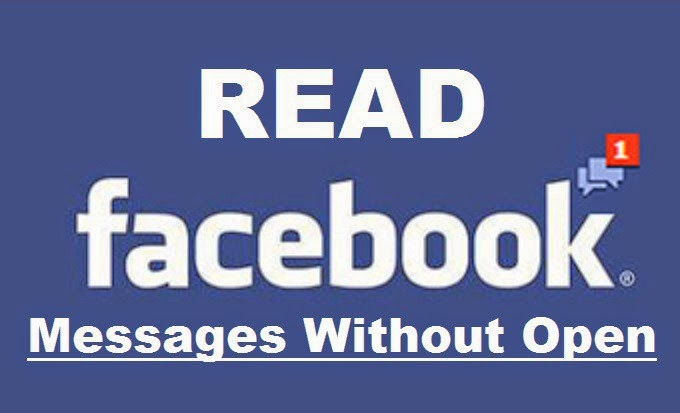 How To Read or See Facebook Messages Without Opening image photo