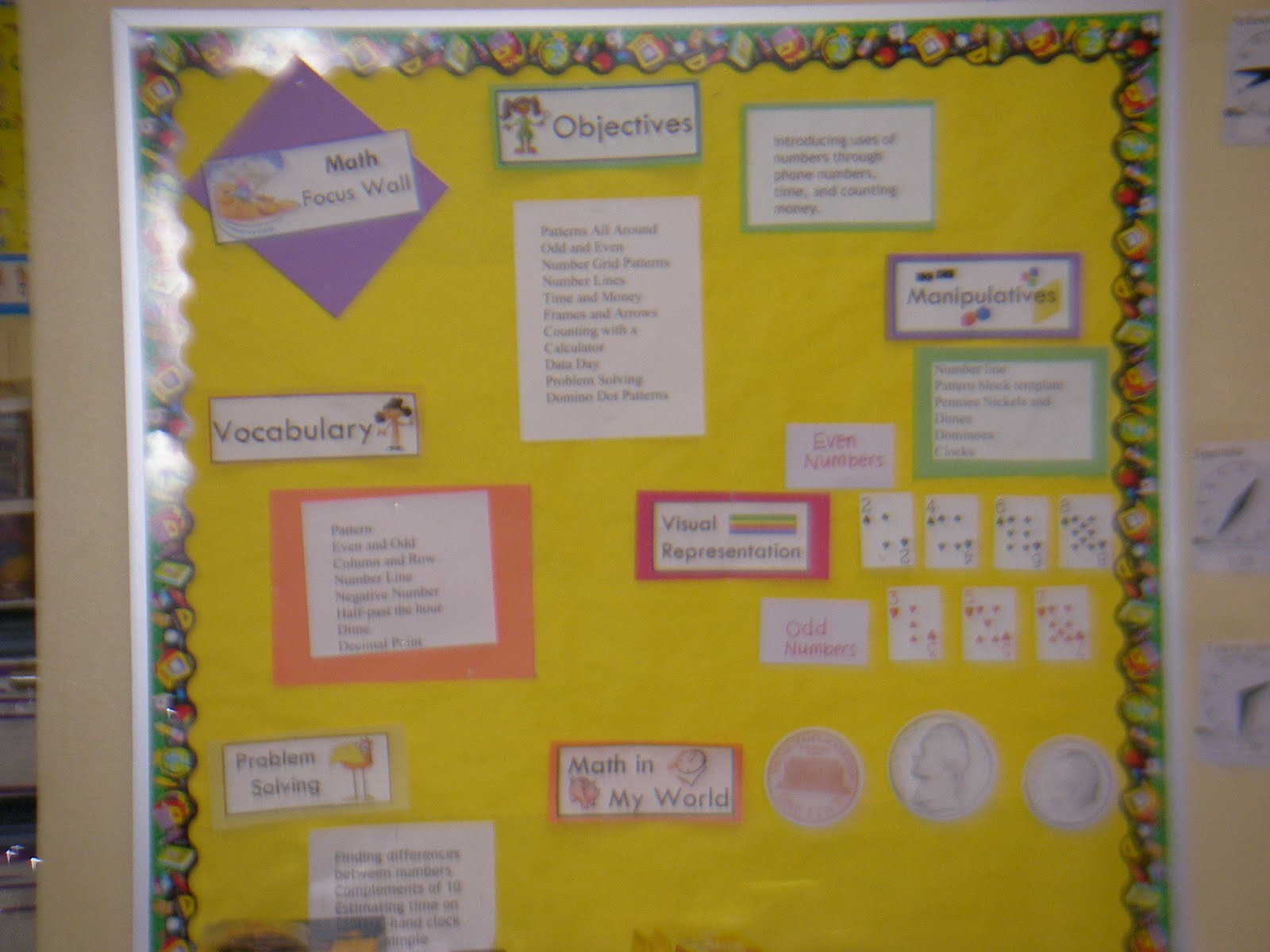 Math Graffiti Vocabulary Some of my math focus boards.