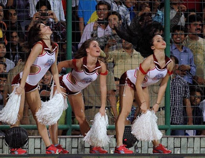 Ipl Cheer Leaders in traditional saree